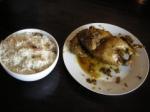 Poulet Bali avec riz spécial - nasi ayam betutu
