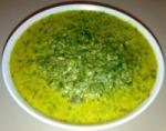 Purée de feuilles de casave – daun ubi tumbuk